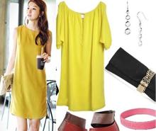 Các mẫu váy đẹp tông vàng lãng mạn cho ngày thu
